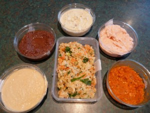 A photo of a selection of dips from Fresh Fodder